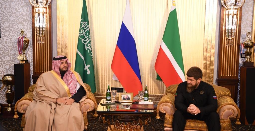تركي بن محمد بن فهد في الشيشان لاستعراض العلاقات مع الرئيس قديروف