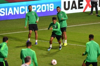 الاخضر قبل مباراة السعودية ولبنان 3