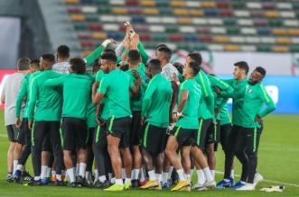 الأخضر يختتم استعداداته لمباراة قطر - المواطن