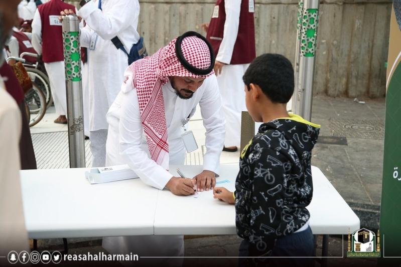 رئاسة شؤون الحرمين تطلق مبادرة طفلك معنا بأمان