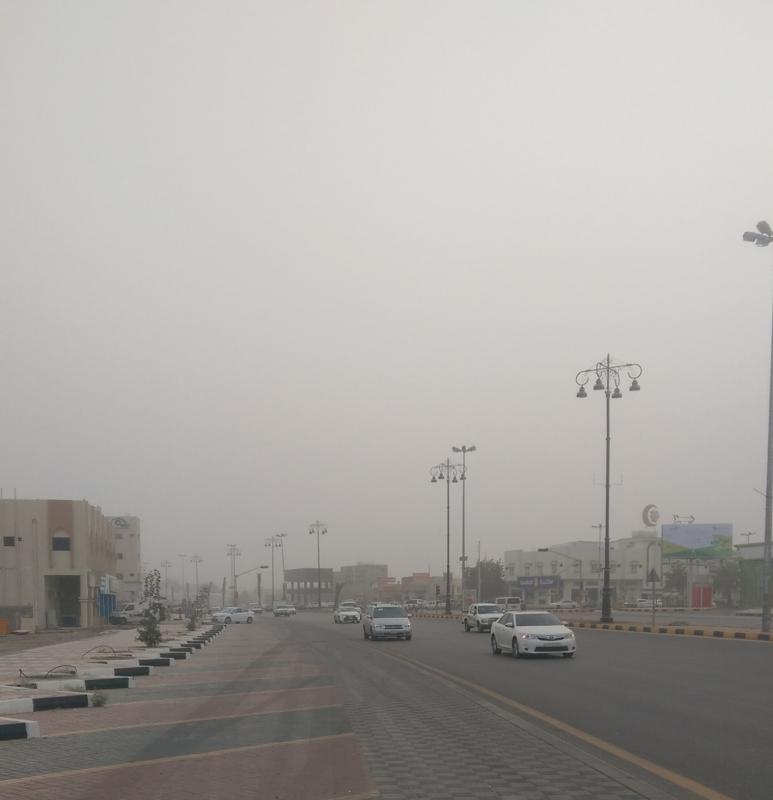 موجة غبار تعيق الرؤية في 6 مناطق