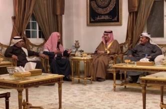 أمير الرياض ونائبه يقدمان واجب العزاء للشيخ المنيع - المواطن