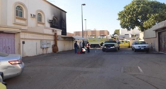 صور.. إصابة امرأة وطفل وإخلاء عائلة بحريق منزل في تبوك - المواطن