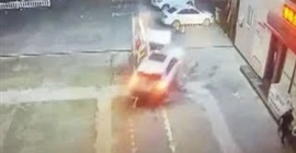 فيديو.. ضغطت على البنزين بدلًا من الفرامل فحطمت مضخة الوقود! - المواطن