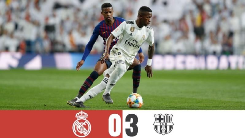 ريال مدريد وبرشلونة .. البارشا يسقط المرينغي بثلاثية .. ويتأهل لنهائي الكأس