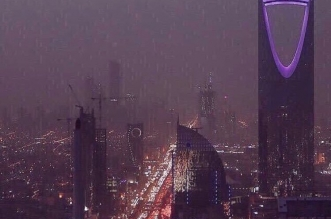 أمطار غزيرة على الرياض حتى الثانية صباحًا - المواطن