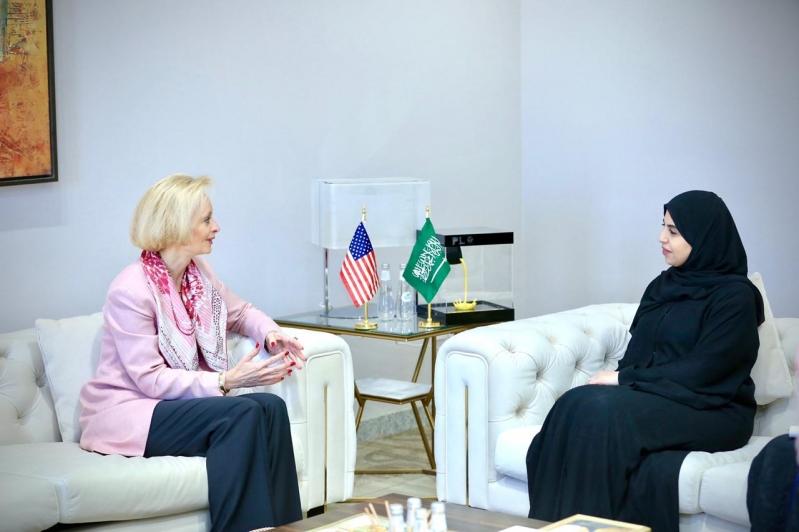 تماضر الرماح تبحث التعاون المشترك مع القائمة بأعمال السفارة الأمريكية