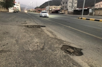 """حفر وعائية تتربص بمركبات رجال ألمع و""""المواطن"""" ترصد الكارثة! - المواطن"""