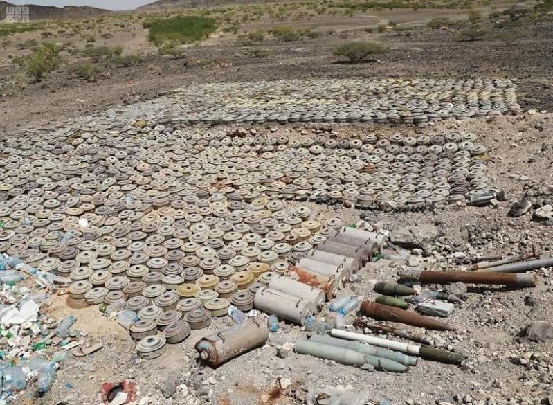 مشروع مسام يتنزع 1,781 لغمًا في اليمن خلال أسبوع