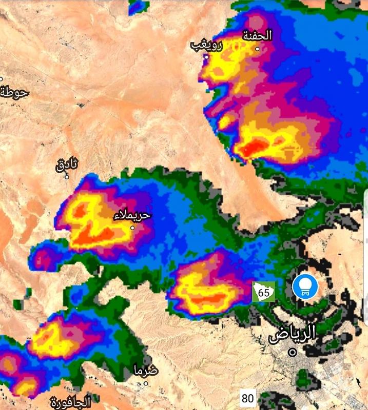 رادار الرياض يسر الناظرين سحب غزيرة شمال العاصمة صحيفة المواطن الإلكترونية