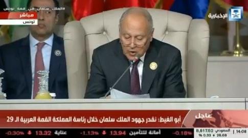 أبو الغيط : الإعلان الأميركي حول الجولان مناقض لكل الأعراف الدولية