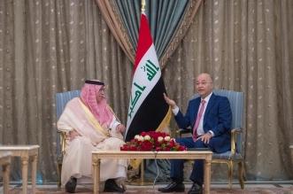 الوزير القصبي ينقل تحيات الملك سلمان وولي العهد إلى الرئيس العراقي - المواطن