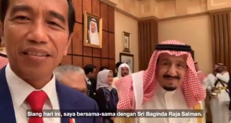 الملك سلمان في سيلفي مع الرئيس الإندونيسي : مكة والمدينة بلد كل المسلمين