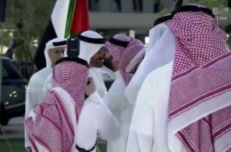 فيديو.. آل الشيخ يستقبل محمد بن زايد في ملعب نهائي البطولة العربية - المواطن
