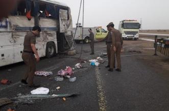 نقل 14 لطوارئ مستشفى الخرمة في حادث انقلاب باص شمال الطائف - المواطن