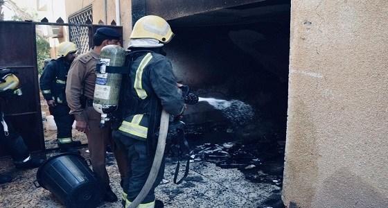 عبث أطفال يشعل حريقًا بمنزل ويحتجز عائلة في تبوك