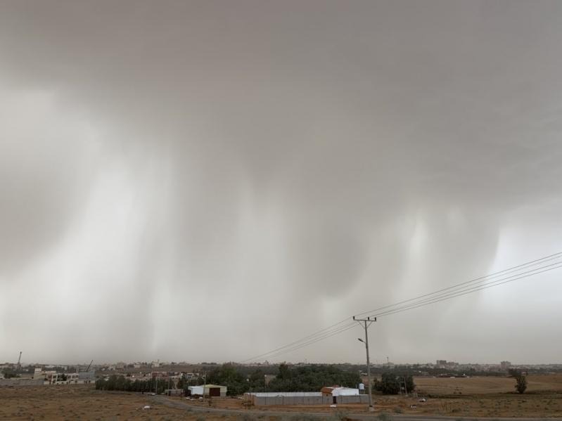 فيديو وصور.. هطول انفجاري في البكيرية.. رياح إعصارية وبرد