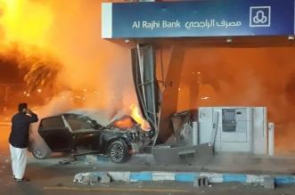 فيديو وصور.. حادث مروع يقتلع الصراف ويصيب 3 أشخاص بجازان - المواطن