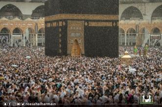 أمطار المسجد الحرام ما بين روحانية المكان ودموع المعتمرين - المواطن
