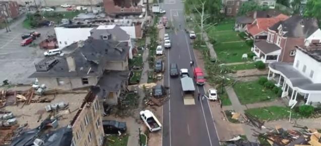 فيديو.. هذا ما فعله إعصار ميسوري المدمر