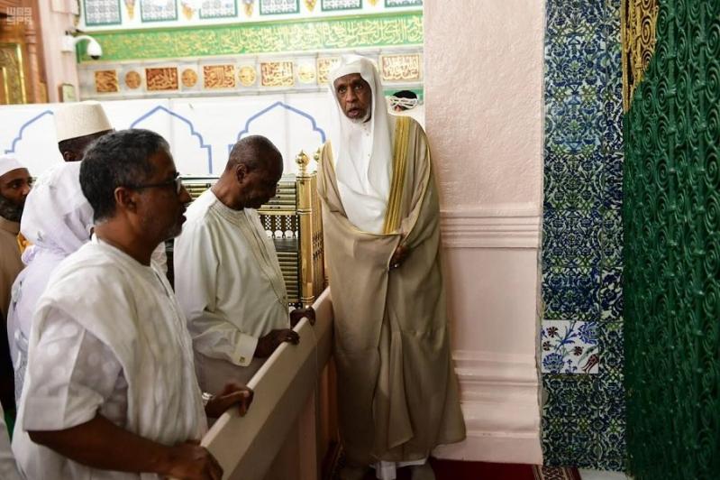 لقطات من زيارة رئيس غينيا للمسجد النبوي