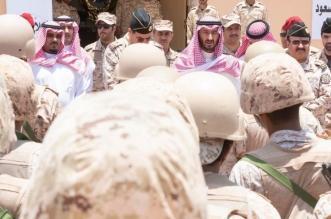 عبدالله بن بندر يزور أبطال الحرس الوطني بالحد الجنوبي44