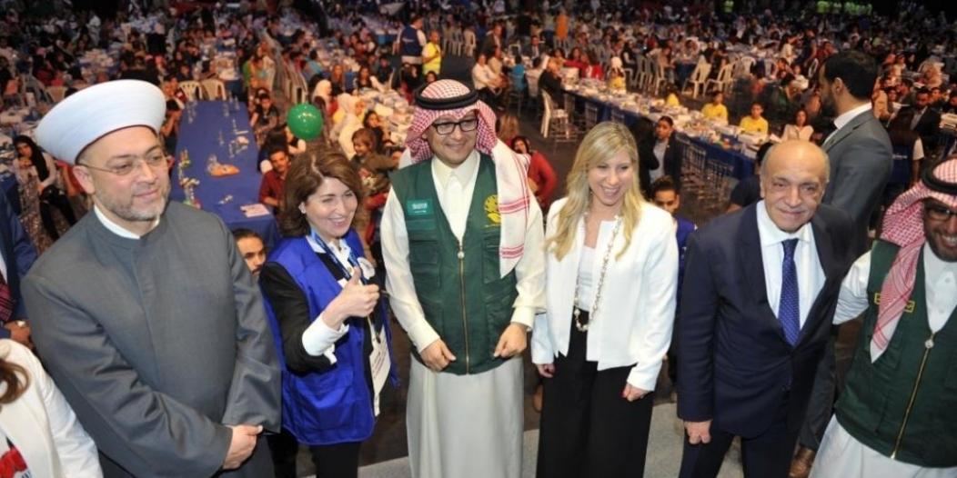صور.. السعودية تحتفي بـ2000 طفل يتيم من كل الديانات بلبنان