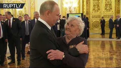 فيديو.. بوتين يلتقي معلمته التي درسته بالصف الخامس