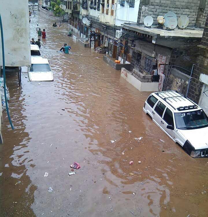 التحالف يطلق حملة إغاثية عاجلة للمتضررين جراء أمطار عدن والمحافظات المجاورة لها