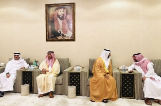 أمير نجران يستقبل المعزين في وفاة الأمير محمد بن متعب1