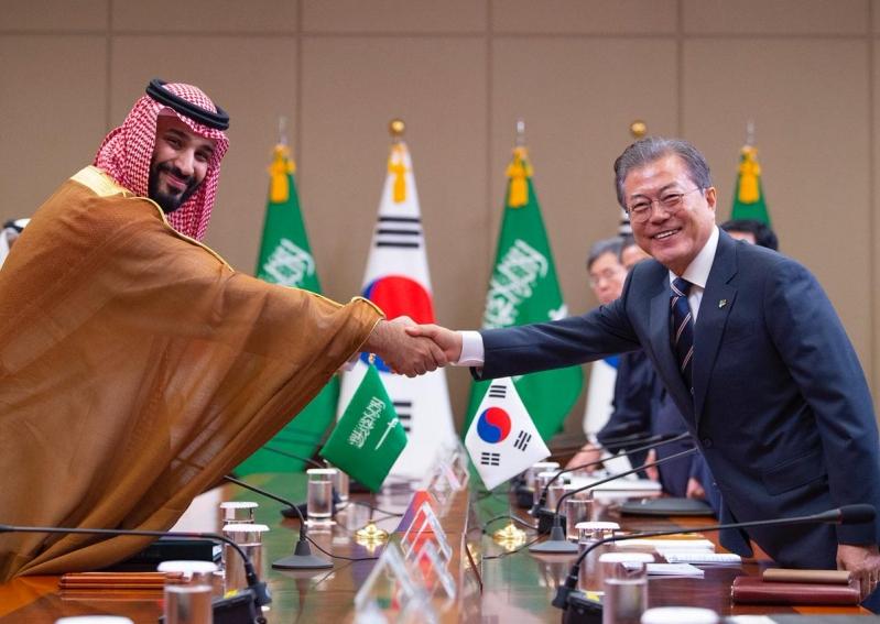 فيديو.. رئيس كوريا والأمير محمد بن سلمان يشهدان توقيع العديد من الاتفاقيات