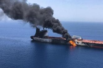 أول فيديو لناقلتي النفط في خليج عمان - المواطن