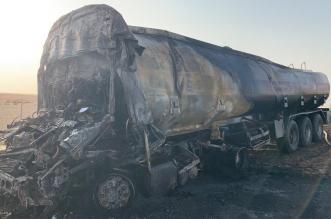 وفاة سائق ناقلة زيت بعد اصطدامها بتريلة قلاب في بدر - المواطن