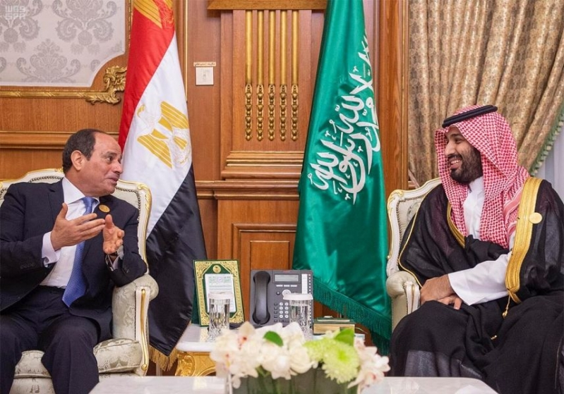 الأمير محمد بن سلمان والرئيس المصري يستعرضان فرص تطوير العلاقات