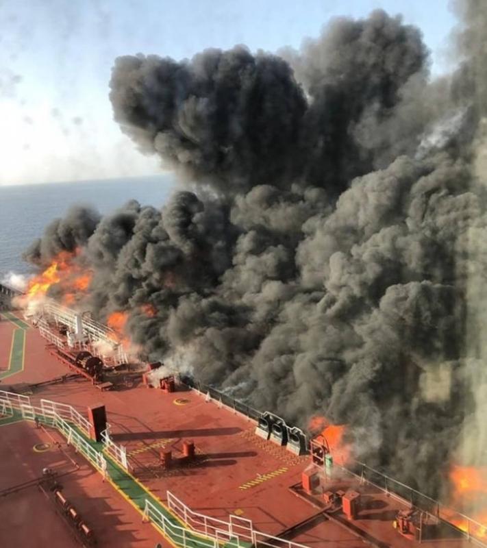 بالصور.. النرويج تُكذب إيران بشأن غرق ناقلة النفط بخليج عمان - المواطن