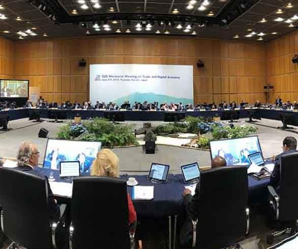 على هامش قمة العشرين في اليابان.. جلسة لوزراء التجارة والاقتصاد الرقمي