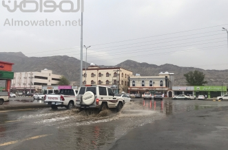 صور.. أمطار محايل وبارق تلطف الأجواء وتشجع الأسر على التنزه - المواطن