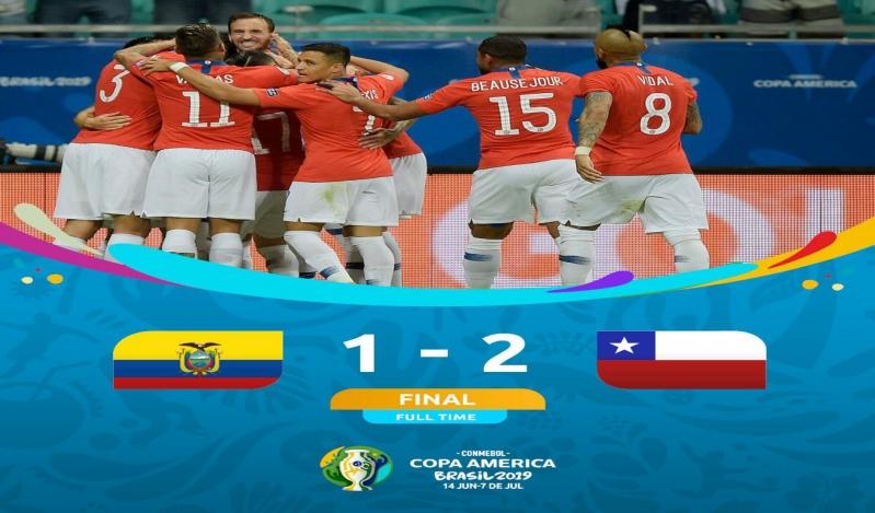 تشيلي تُسقط الإكوادور بثنائية وتعبر لدور الـ8