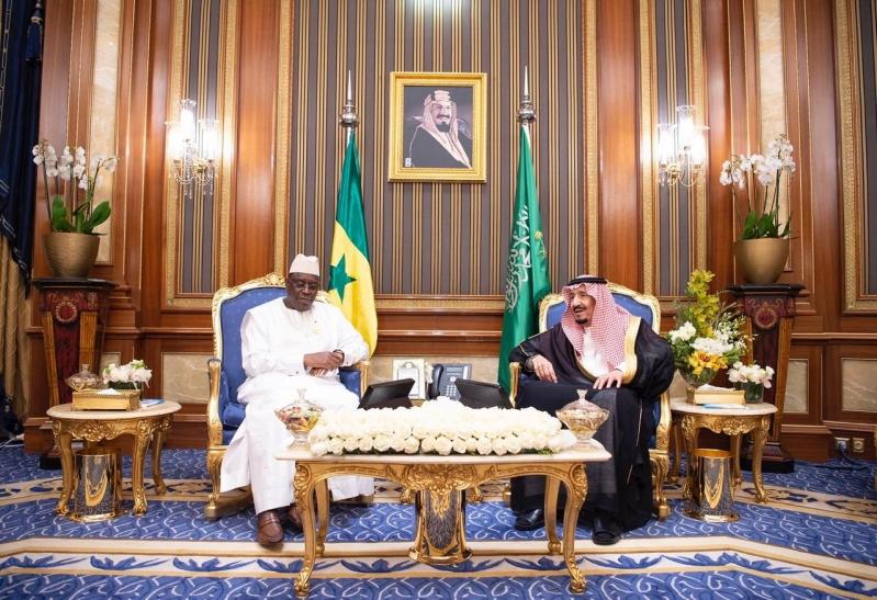 الملك سلمان يلتقي رئيس السنغال ويبحثان أوجه التعاون بين البلدين