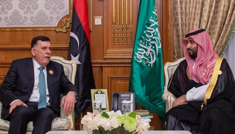 الأمير محمد بن سلمان والسراج يستعرضان العلاقات الثنائية