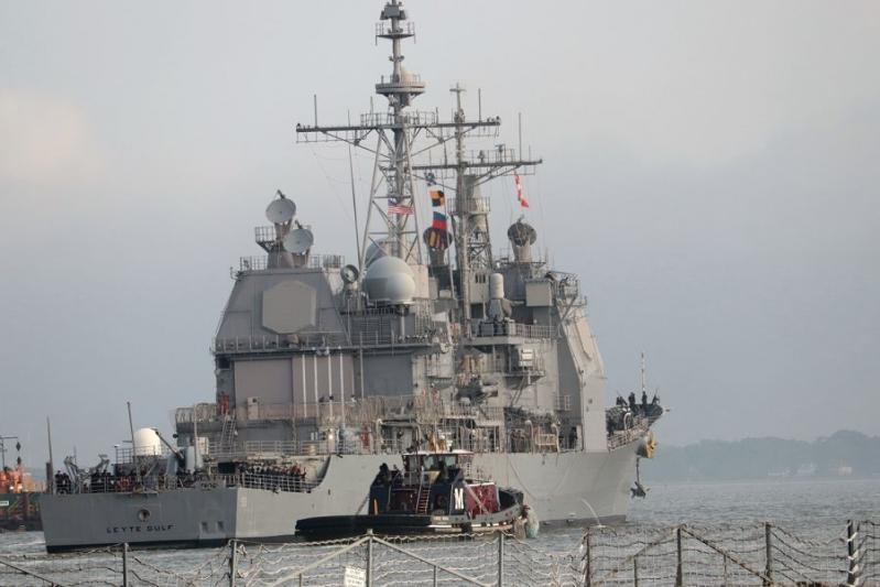 ليلة لم ينم فيها جنود الطراد USS Leyte Gulf المُزوّد بصواريخ مجنحة