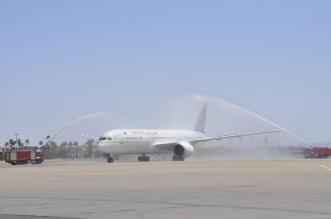 السعودية تحتفل بوصول أولى رحلاتها المنتظمة إلى مراكش بقوس المياه والحلويات - المواطن