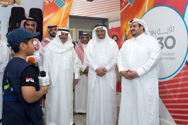 أمير الرياض بالنيابة يزور نادي الحي بمدرسة ابن الحاجب بالرياض 3