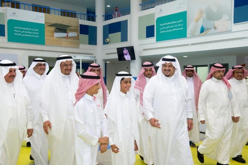 أمير الرياض بالنيابة يزور نادي الحي بمدرسة ابن الحاجب بالرياض 7