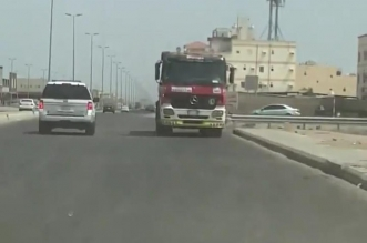 إصابة شخص في حادث تصادم شاحنتين بجدة - المواطن