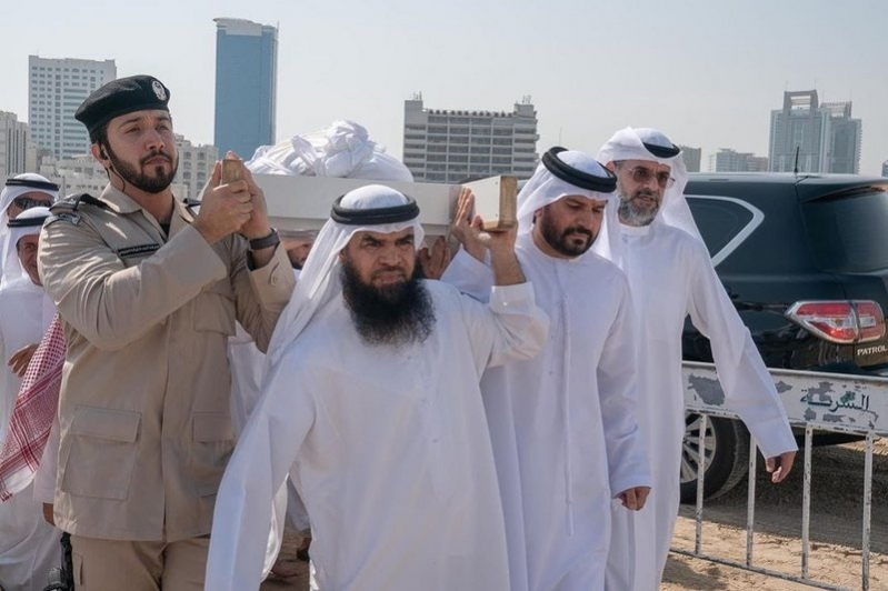 الشارقة تشيع خالد بن سلطان القاسمي إلى مقبرة الجبيل