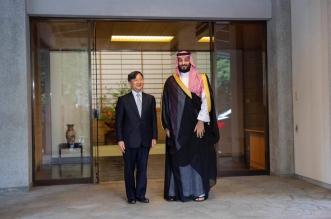 إمبراطور اليابان يستقبل الأمير محمد بن سلمان في قصر أكاساكا - المواطن
