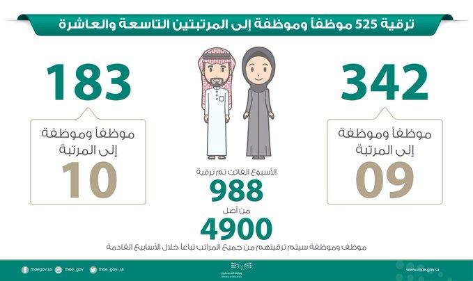 """""""المواطن"""" تنشر الأسماء.. التعليم: ترقية 525 موظفاً وموظفةً"""