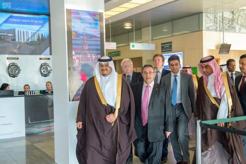 أمير الرياض بالنيابة يصل إلى موسكو في زيارة رسمية