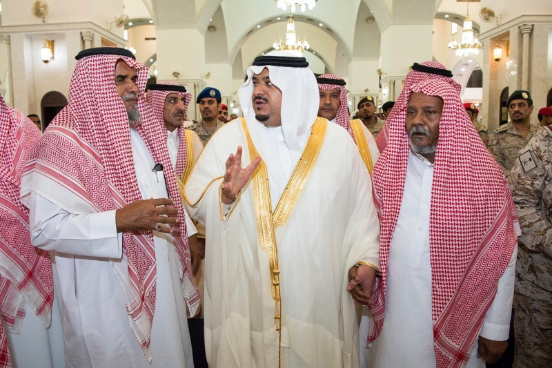 أمير الرياض بالنيابة ينقل تعازي القيادة لأسر الشهيدين الصيعري وشراحيلي - المواطن